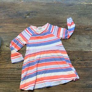 Long sleeve GAP toddler swing dress striped